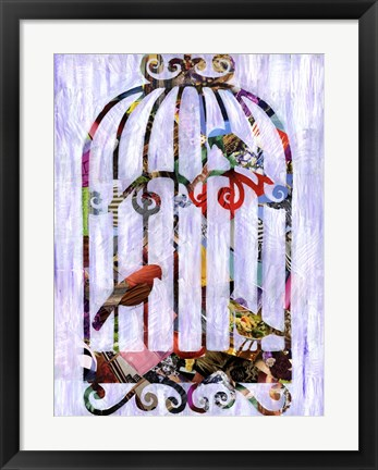 Framed Bird Cage Print