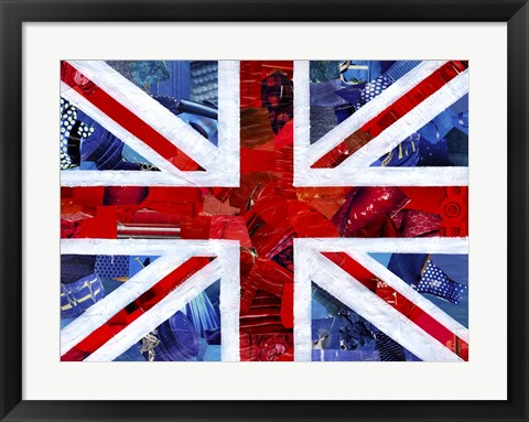 Framed Union Jack Print