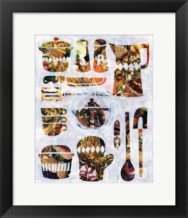 Framed Kitchen Collection Print