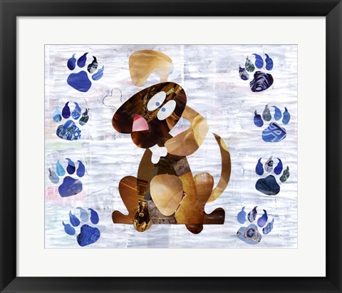 Framed Puppy Print