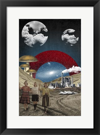 Framed Uncertain Future Print