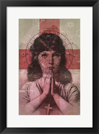 Framed Christian Girl Print