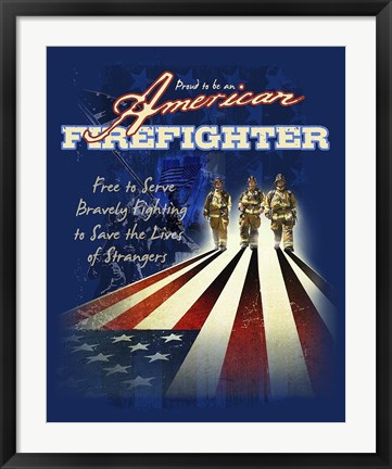 Framed American Firefighters Print