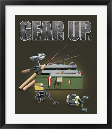 Framed Gear Up Fishing Print