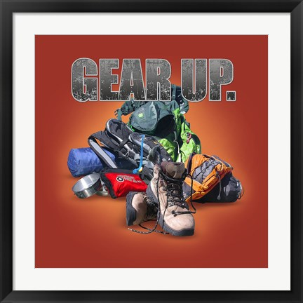 Framed Gear Up Hiking Print