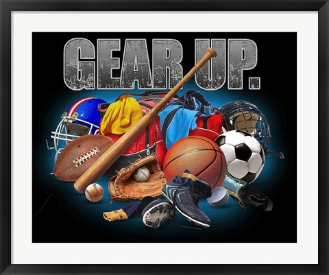 Framed Gear Up Sports Print