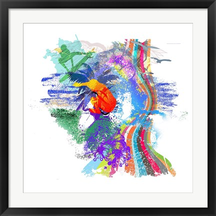 Framed Surf Abstract Print