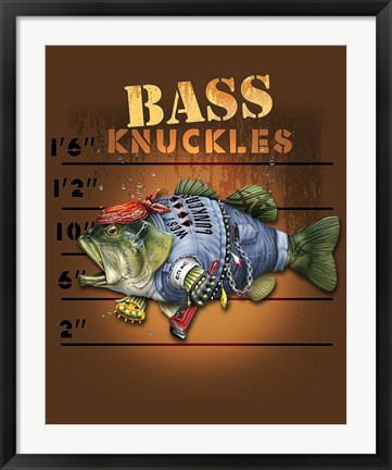 Framed Bass Knuckles Print