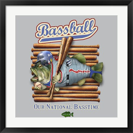 Framed Bassball Print