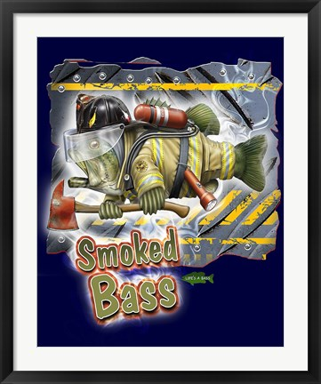 Framed Smoked Bass Print
