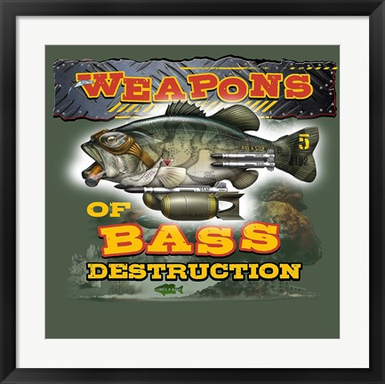 Framed Bass Destruction Print
