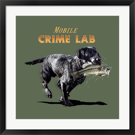 Framed Mobile Crime Lab Print