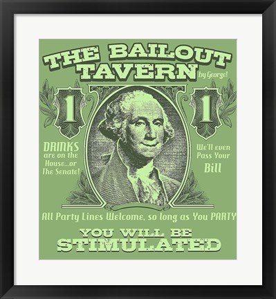 Framed Bailout Tavern Print