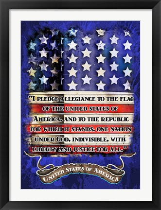 Framed Pledge Print