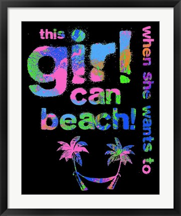 Framed This Girls Can Beach Print