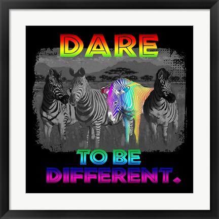 Framed Dare Print