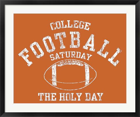 Framed College Football Print