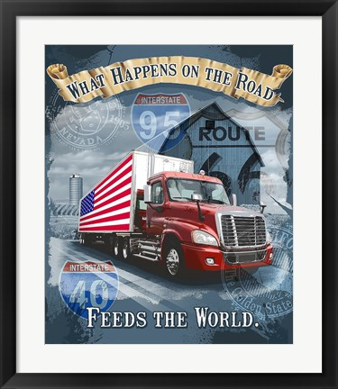 Framed Feeds the World Print