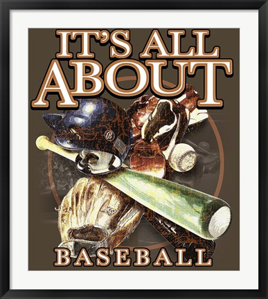 Framed All About Baseball Print