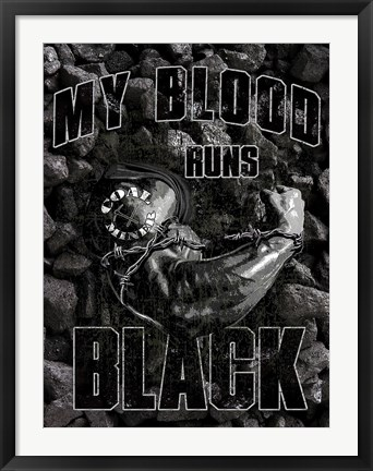 Framed Black Blood Print