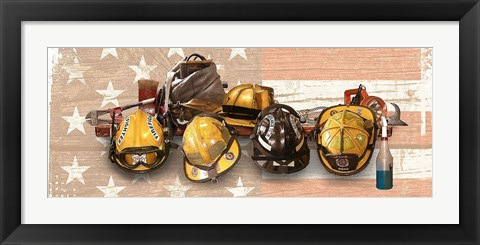 Framed Firefighters Stand Tall Print
