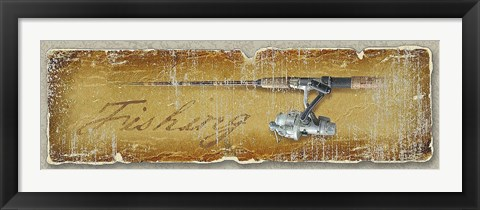 Framed Fishing Print