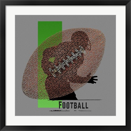 Framed Football Print