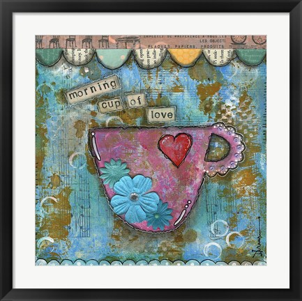 Framed Morning Cup of Love Print