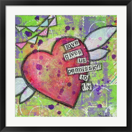 Framed Love Gives Us Permission Print