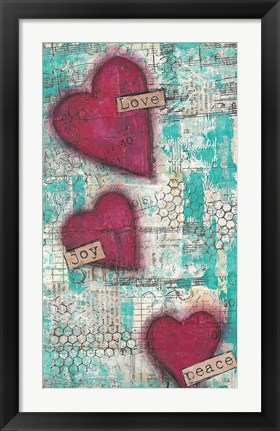 Framed Love Joy Peace Print