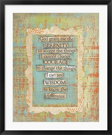 Framed Lords Prayer Print