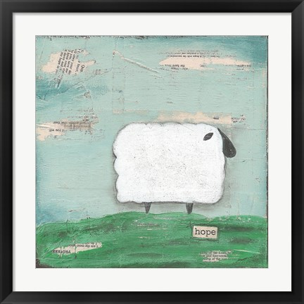 Framed Hope Sheep Print