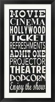 Framed Movie Print
