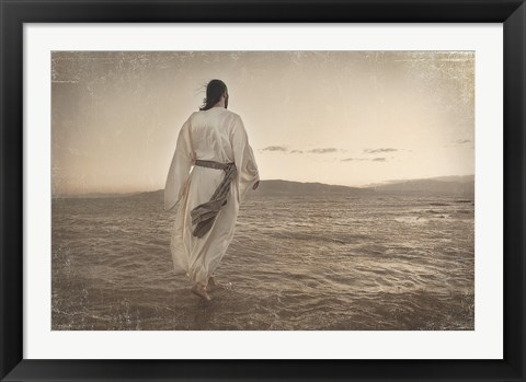Framed Walking on Water Print