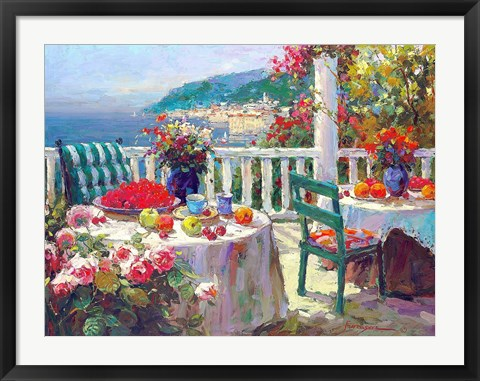 Framed Terrace Brunch Print
