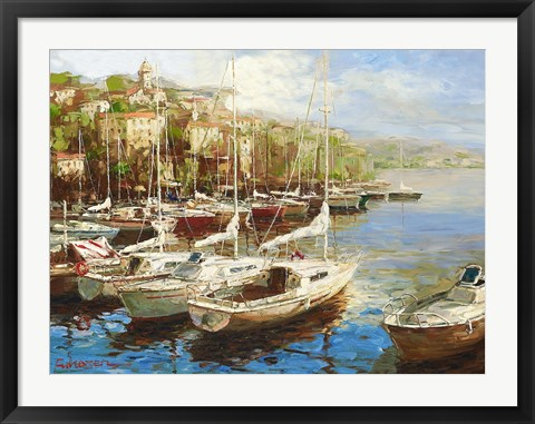Framed Harbor Bay Print