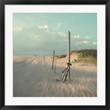 Framed Biking on Ocracoke Print