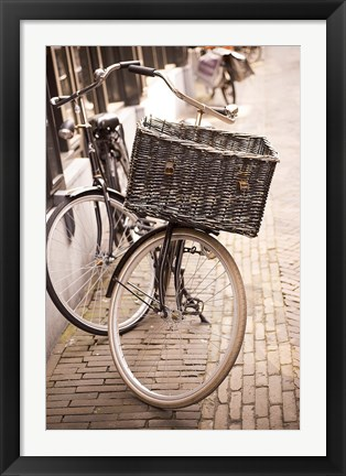 Framed Amsterdam Bicycle Print