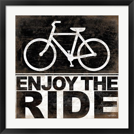 Framed Enjoy the Ride - Bicycle Print