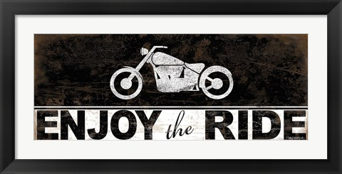 Framed Enjoy the Ride - Motorcycle Print