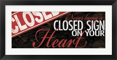 Framed Closed Heart Print