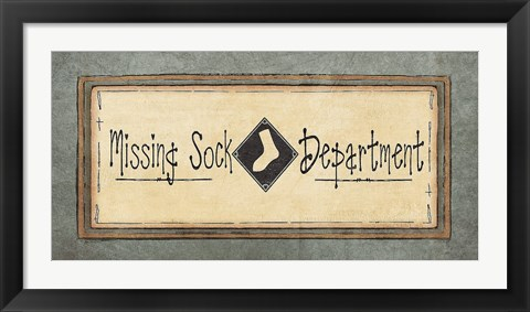 Framed Missing Sock Department Print