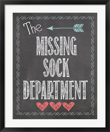 Framed Missing Sock Dept. Print