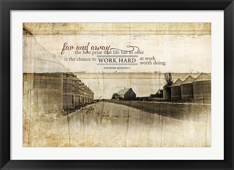 Framed Work Hard Print