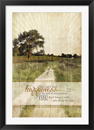 Framed Bring Happiness Print