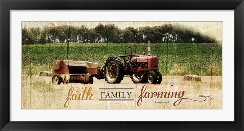 Framed Faith Family Farming Print