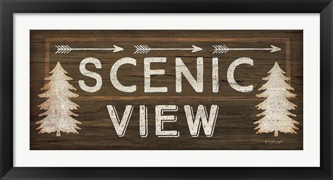Framed Scenic View Print
