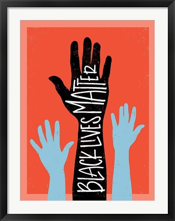 Framed Black Lives Matter - Hands Print