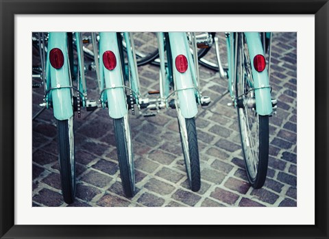 Framed Bicycle Line Up 1 Print