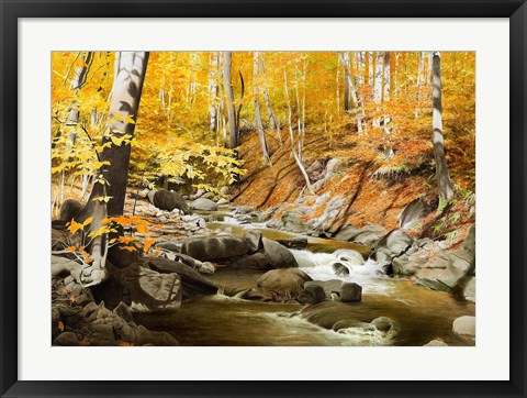Framed October Creek Print